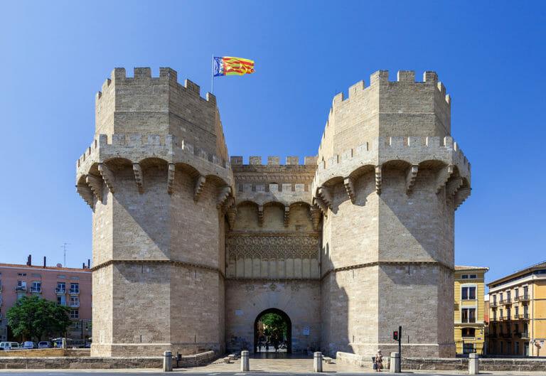 Las Torres de Serranos de Valencia