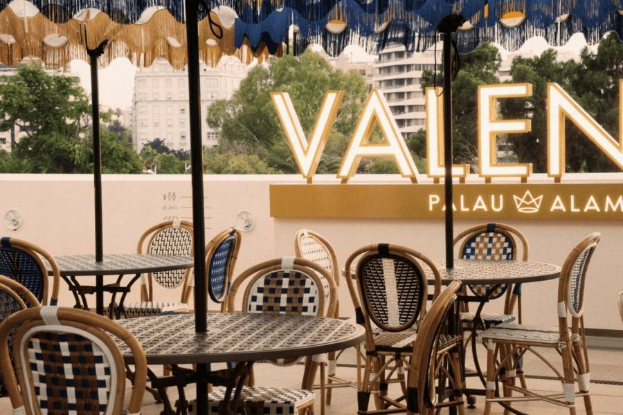 Àtic la terraza de Palau Alameda, una de las 4 terrazas para disfrutar de la Alameda de Valencia